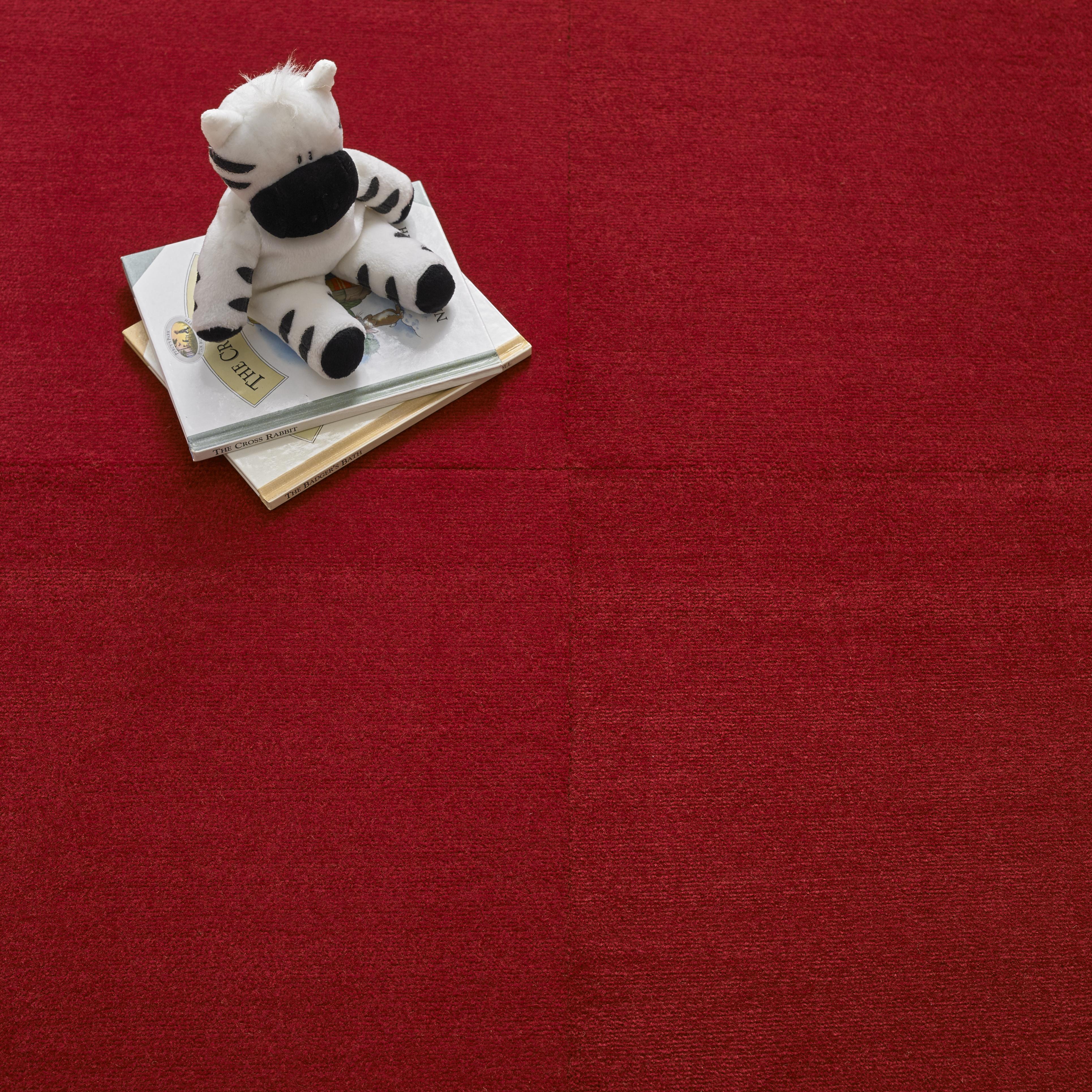 Premium Carpet Tile - Red