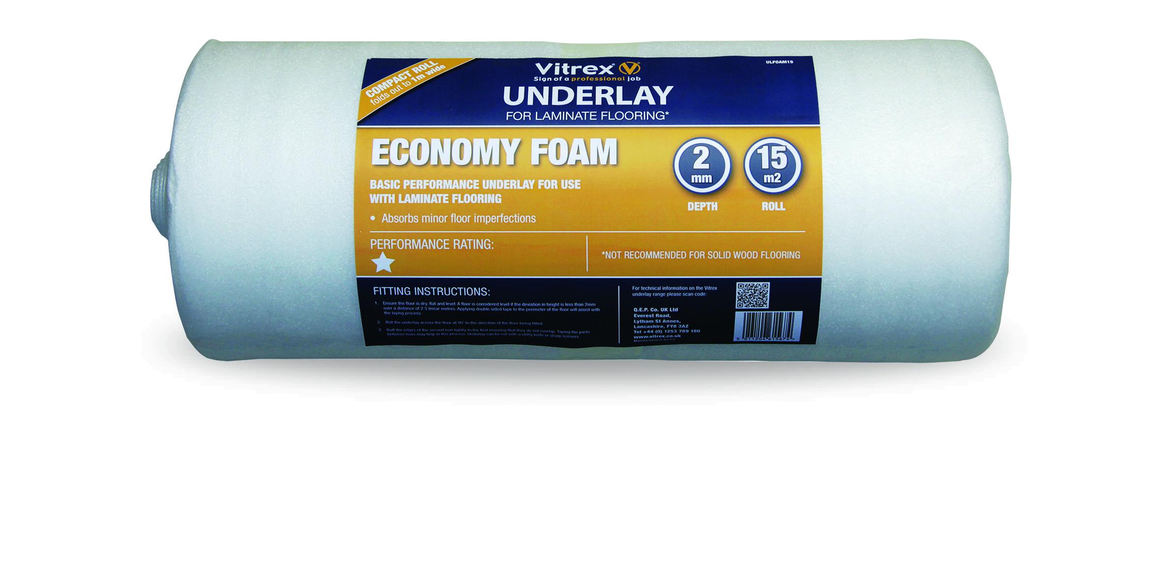 Economy Foam Underlay 15m2 Roll